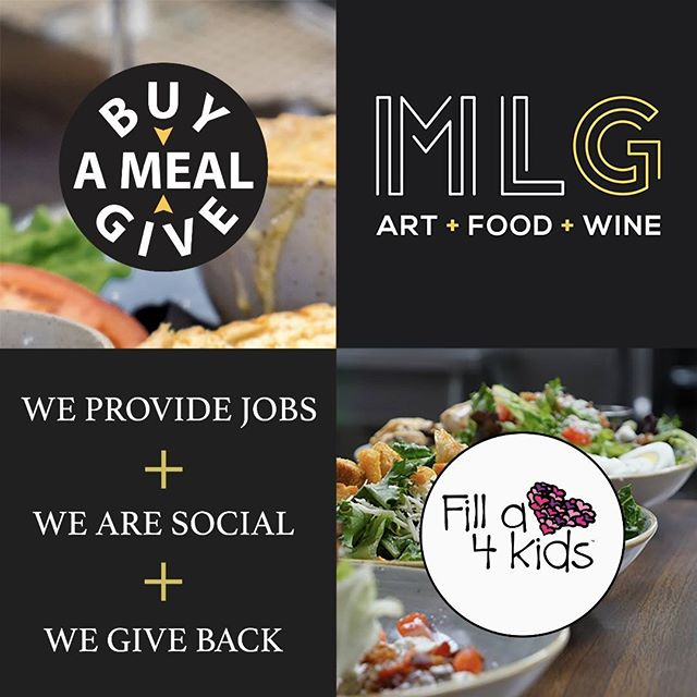 "Don't forget, we are continuing our partnership program with 3 more local charitable organizations to raise funds and awareness for their good works!  So please take part in our ""Buy a meal, get a meal"" program.  #buyameal #donation #helpothers #MLG"