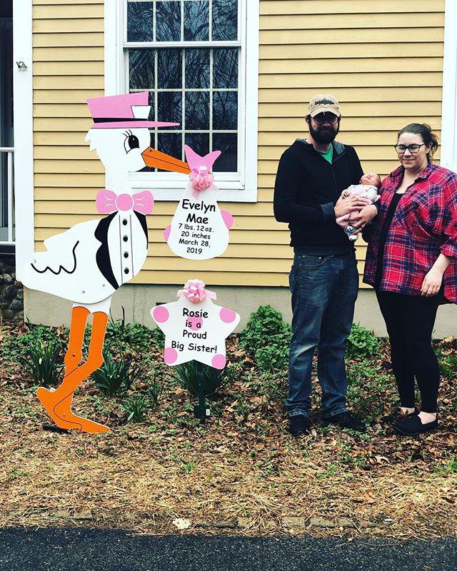 🥰👨👩👧🎀 #storkrentals#birthannouncements#westchesterstork#newbaby#welcomebaby#momsofwestchester#babygirl