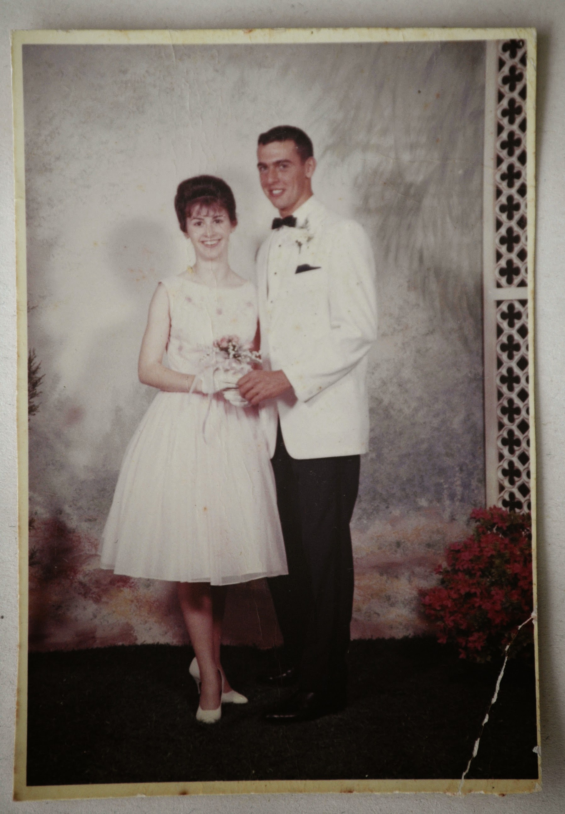 Marie and hank at prom in 1964