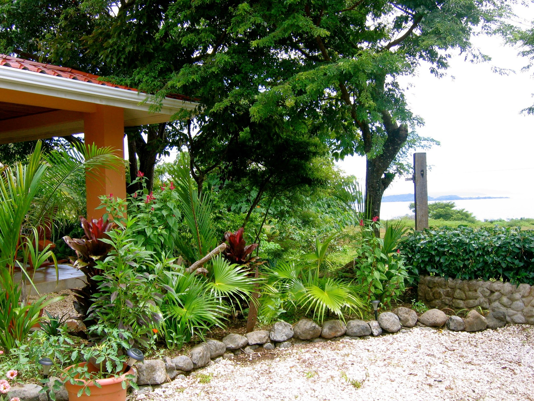 Front corner of house with view of Playa San Miguel