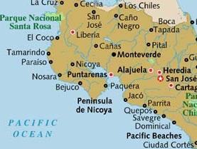 We are near Bejuco on the guanacaste peninsula