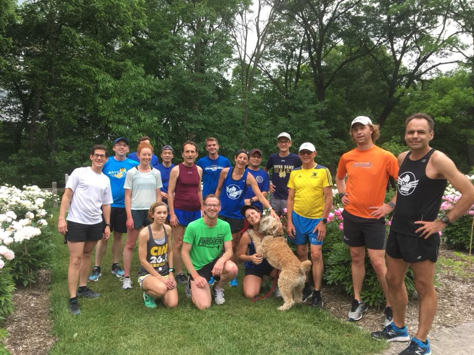 PR RUN CLUB stalling before tackling the Arb hill, Summer 2018