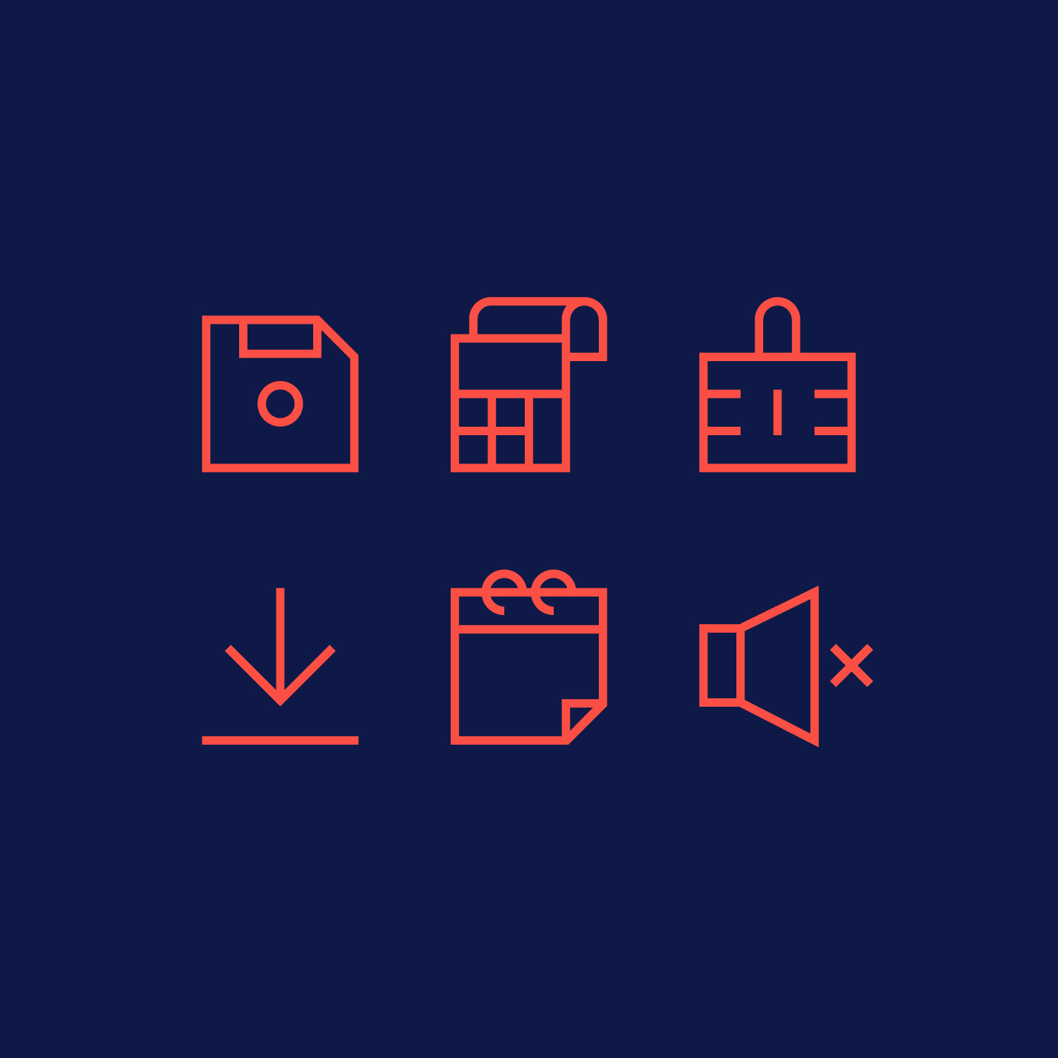 OnMobile icon system  A new icon system for OnMobile, a telco company with customers in more than 60 countries. We created around 200+ icons as a part of a bigger brand refresh