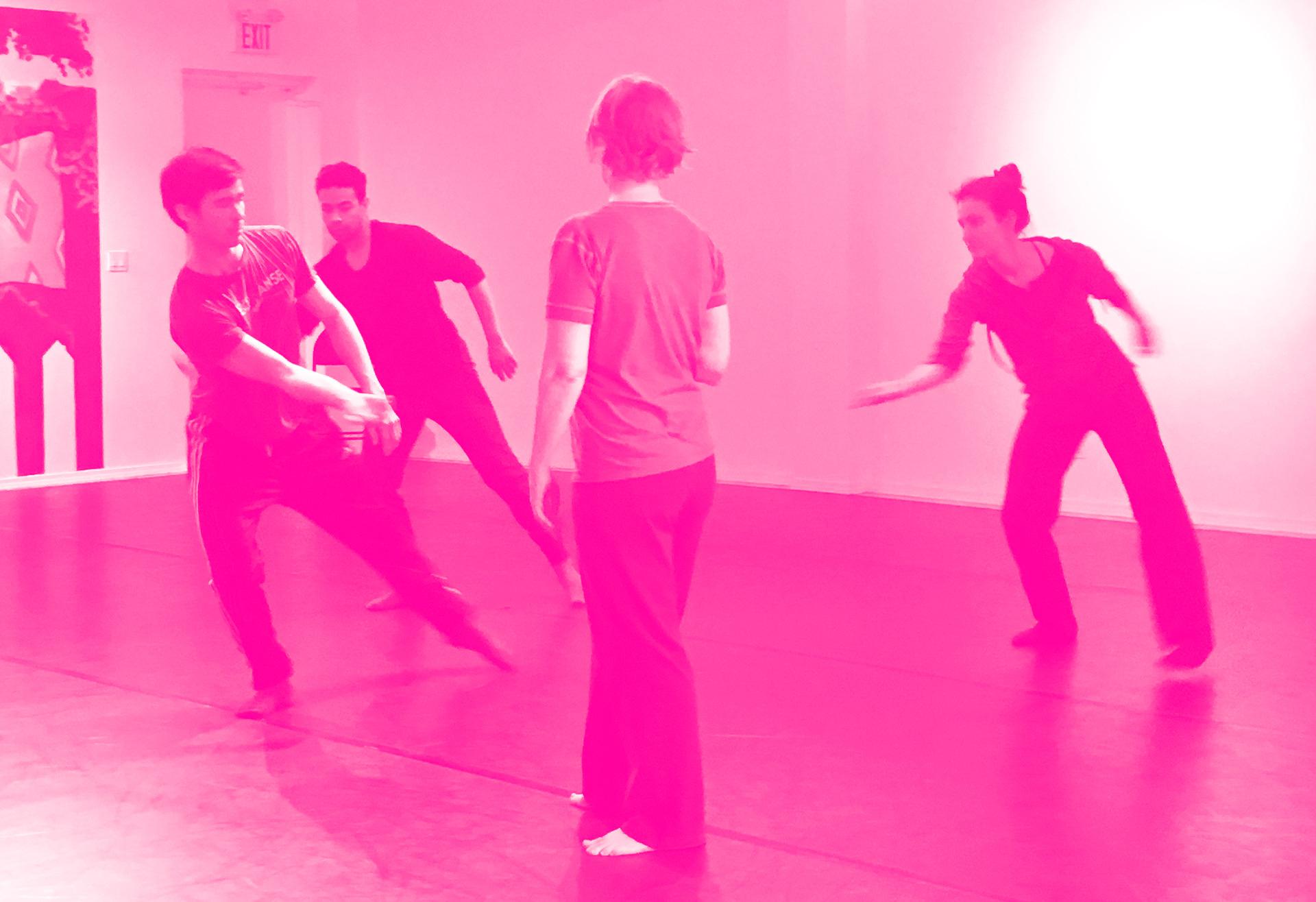 Choreographers Lab in Edmonton, AL, 2018 Pictured: Richard Lee, Jason Romero, Jen Dunford