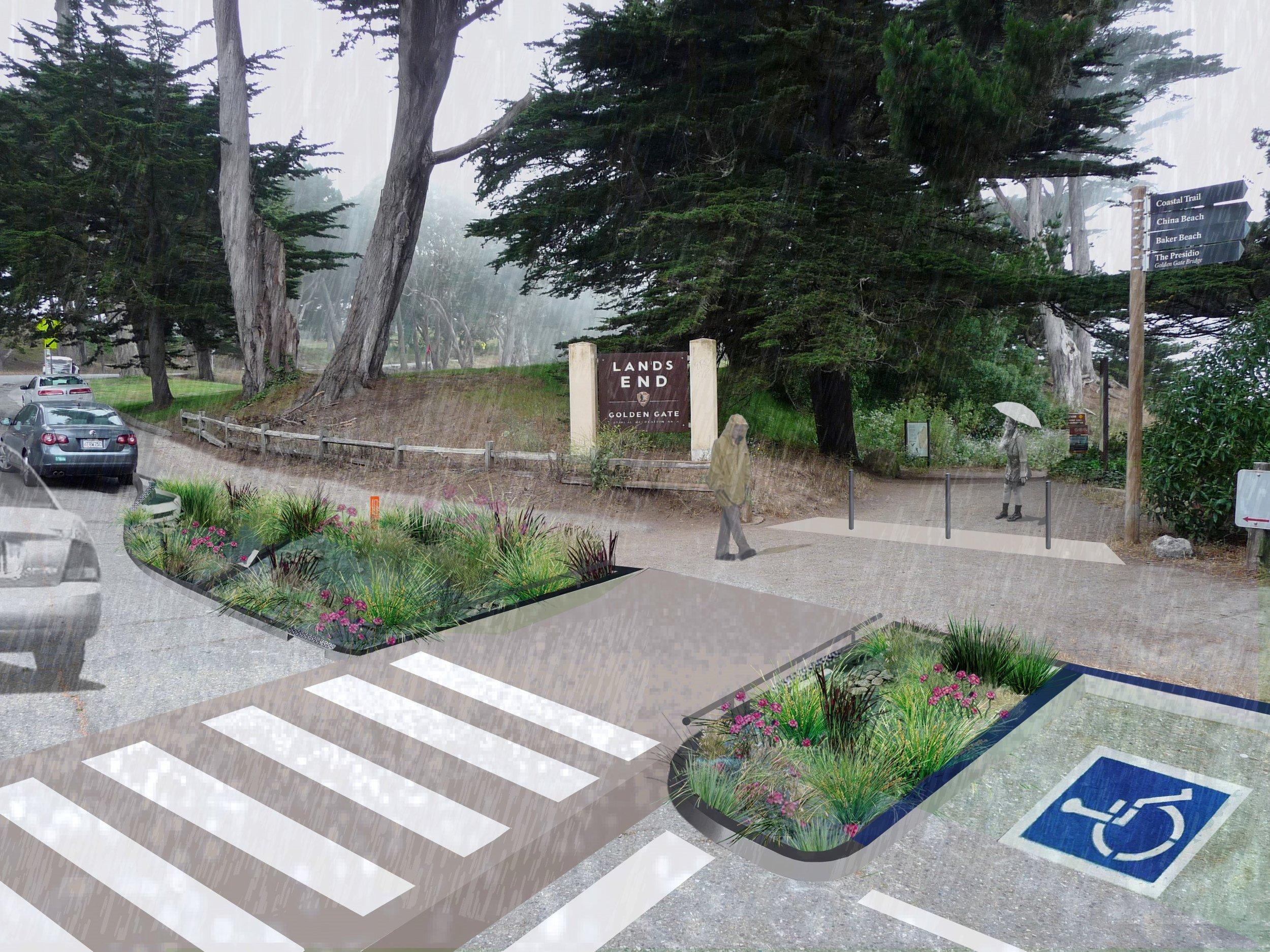 rain gardens @ land's end trailhead