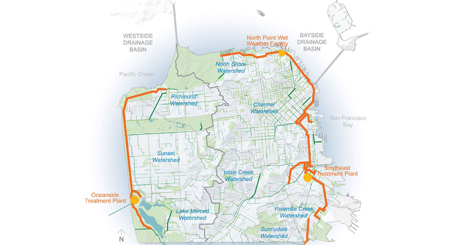 san francisco combined sewer system + watersheds