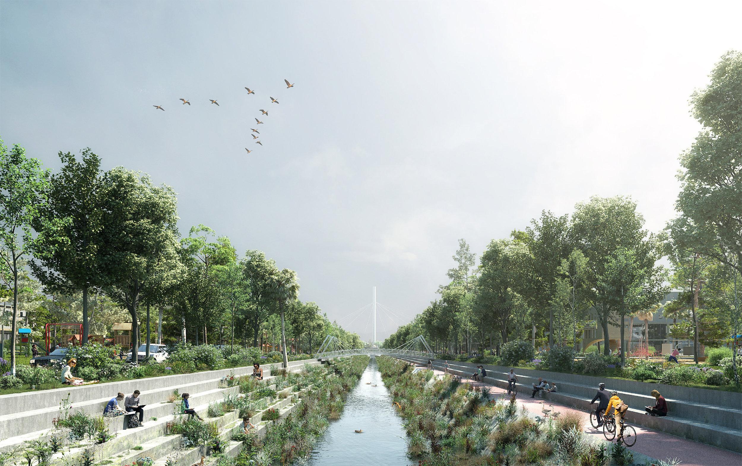 creek-side parks master plan concept