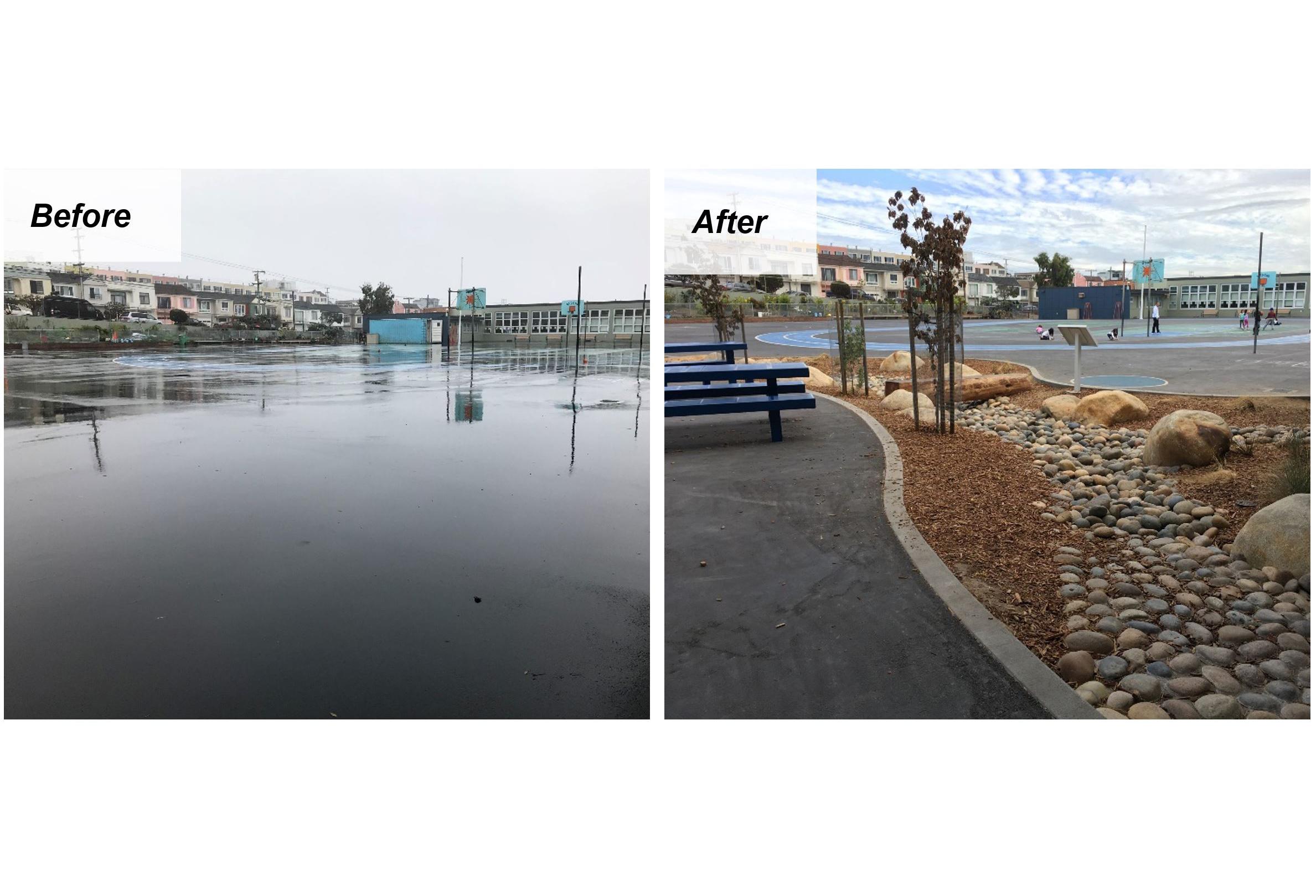 stevenson elementary stormwater schoolyard