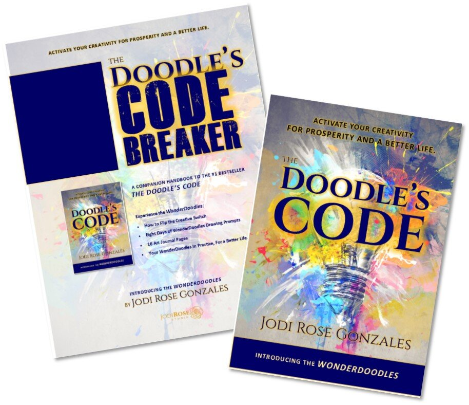 Click on the image to receive a  complimentary copy  of   the Doodle's COdebreaker  , a 24-page  wonderdoodles  art journal.