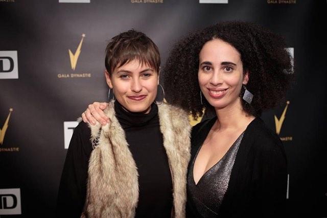 Kara & Emilie looking snazzy repping RUDE at the @galadynastie pre-gala last week. #stayRUDE #rudethepodcast @karita_sj @emilie_ni