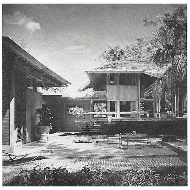 The Jewell Parker Residence / coconut grove built by architect Alfred Browning Parker in 1957
