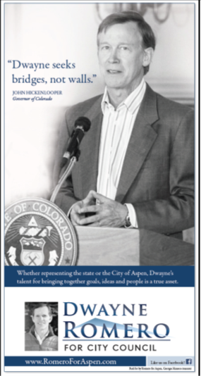 Dwayne Romero for Council, Aspen Colorado