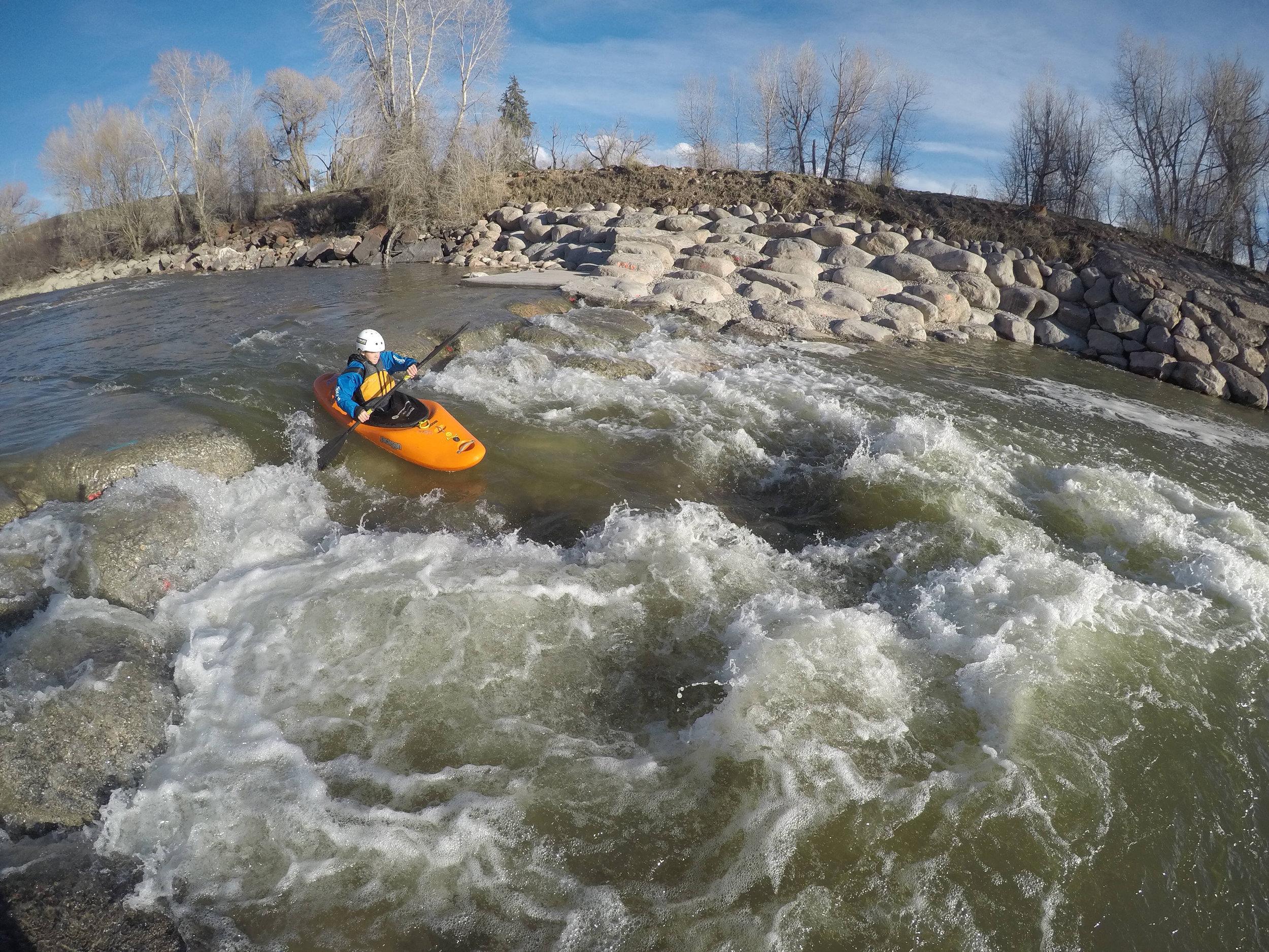 A kayaker on the Eagle River Whitewater Park. | Ken Hoeve