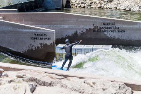 Surf's up in Boise, thanks to Phase II opening at the Boise Whitewater Park, built by S2O Design.