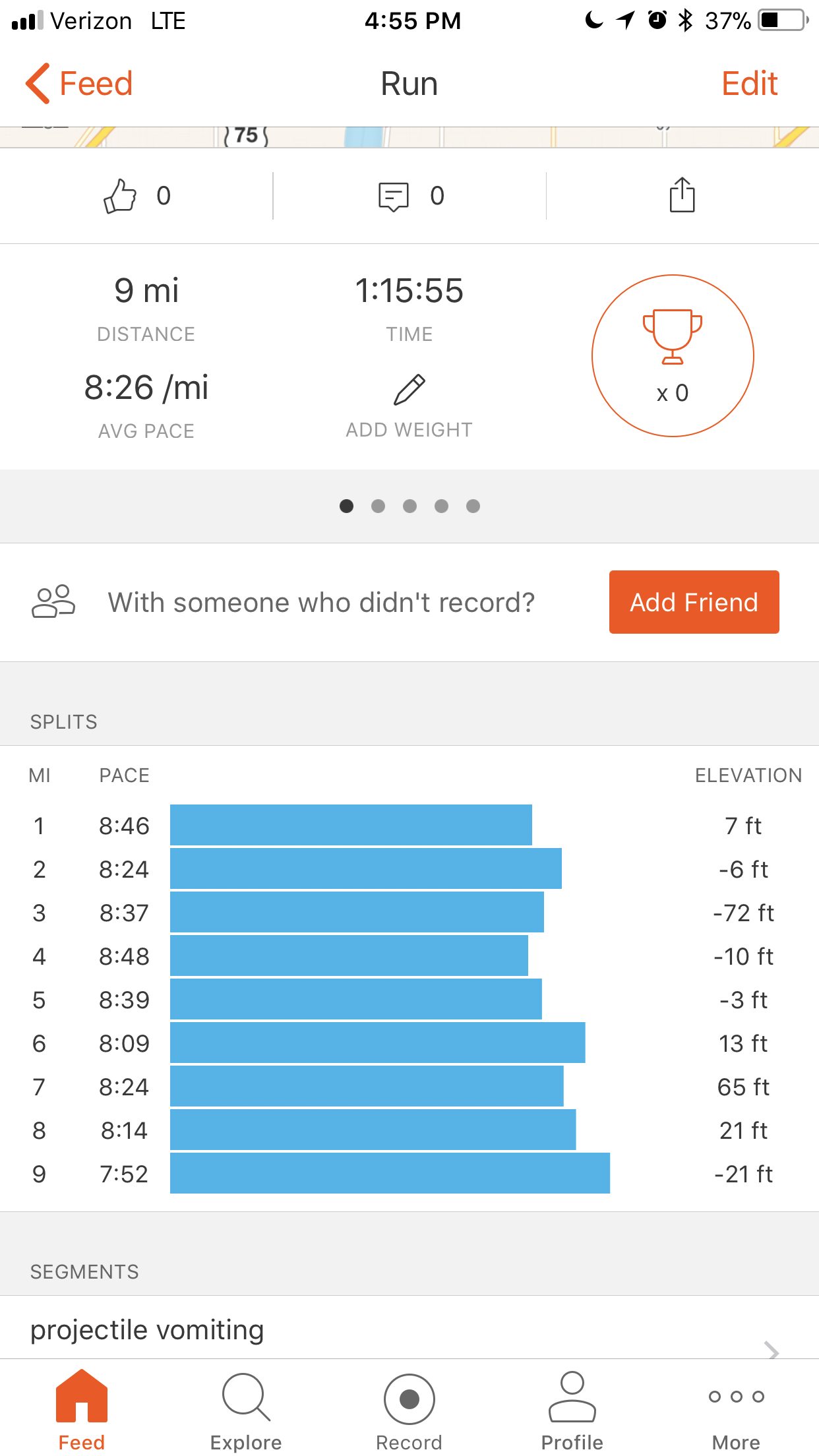 nailing paces on tired post-race and post-work-in-non-athletic-shoes legs
