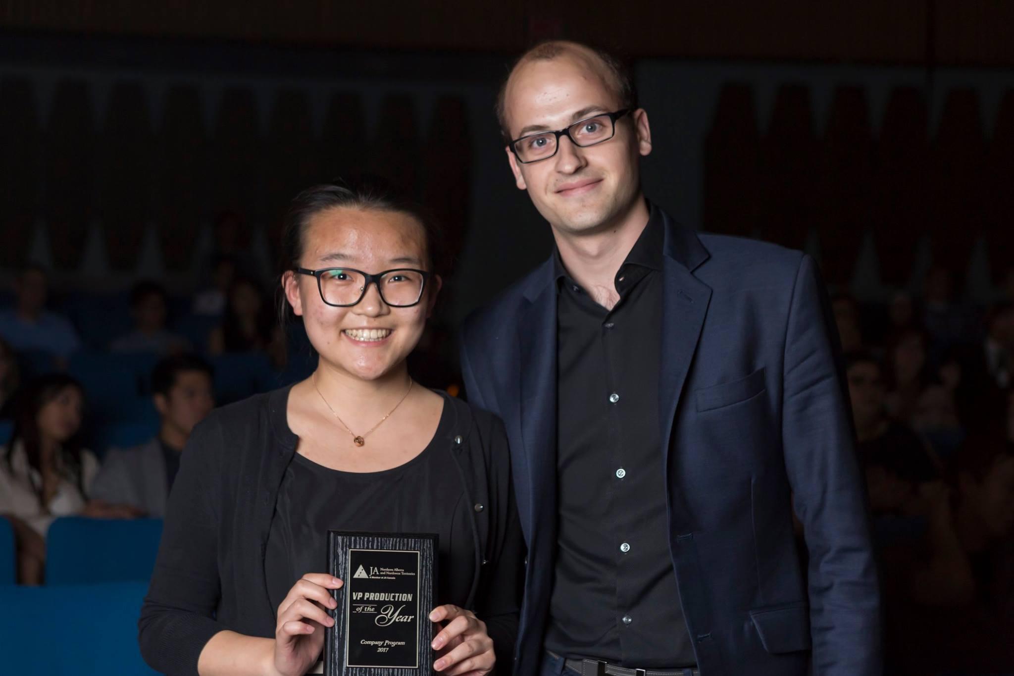 Junior achievement sponsorship for VP Production