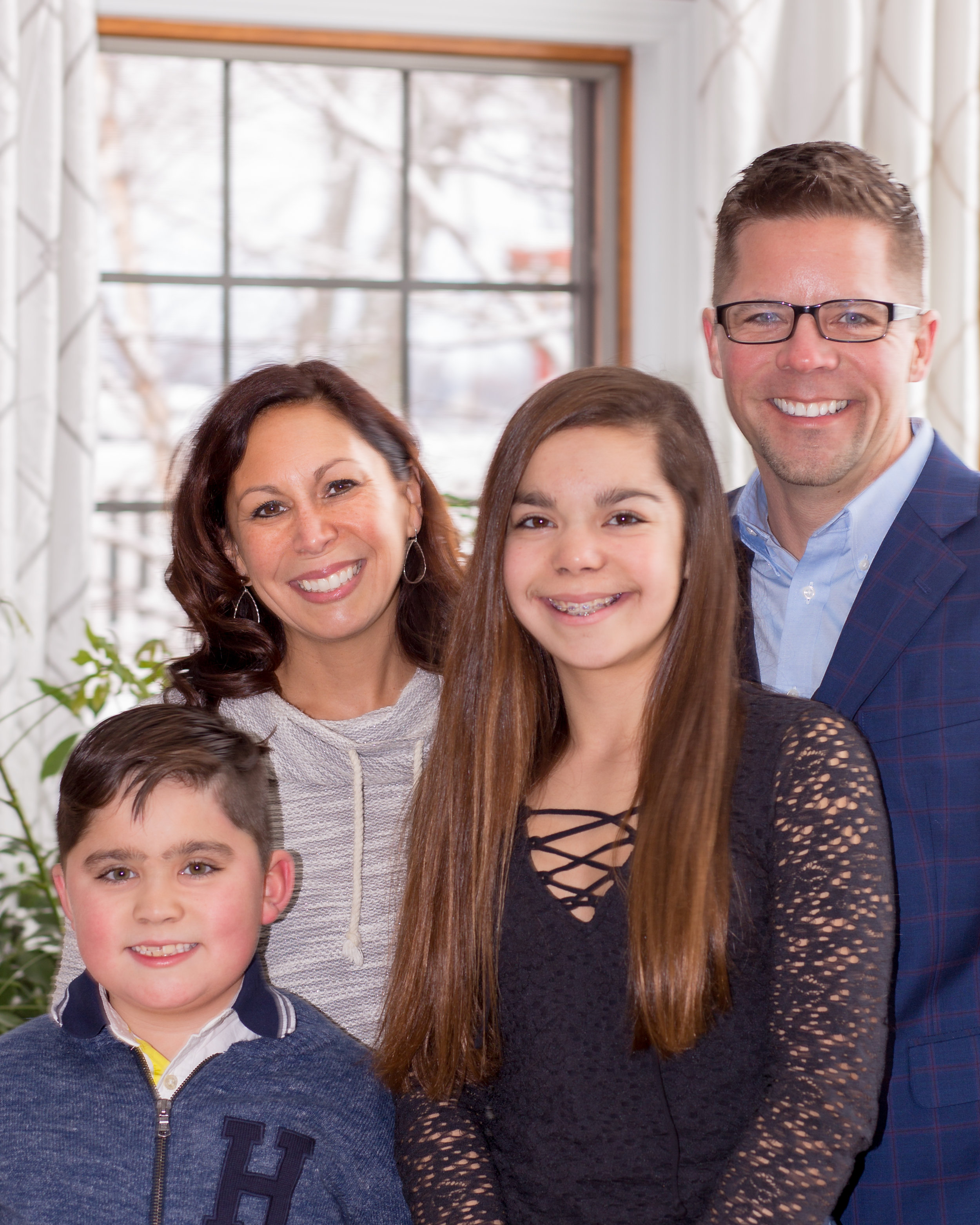 Indoor Winter Family Photo