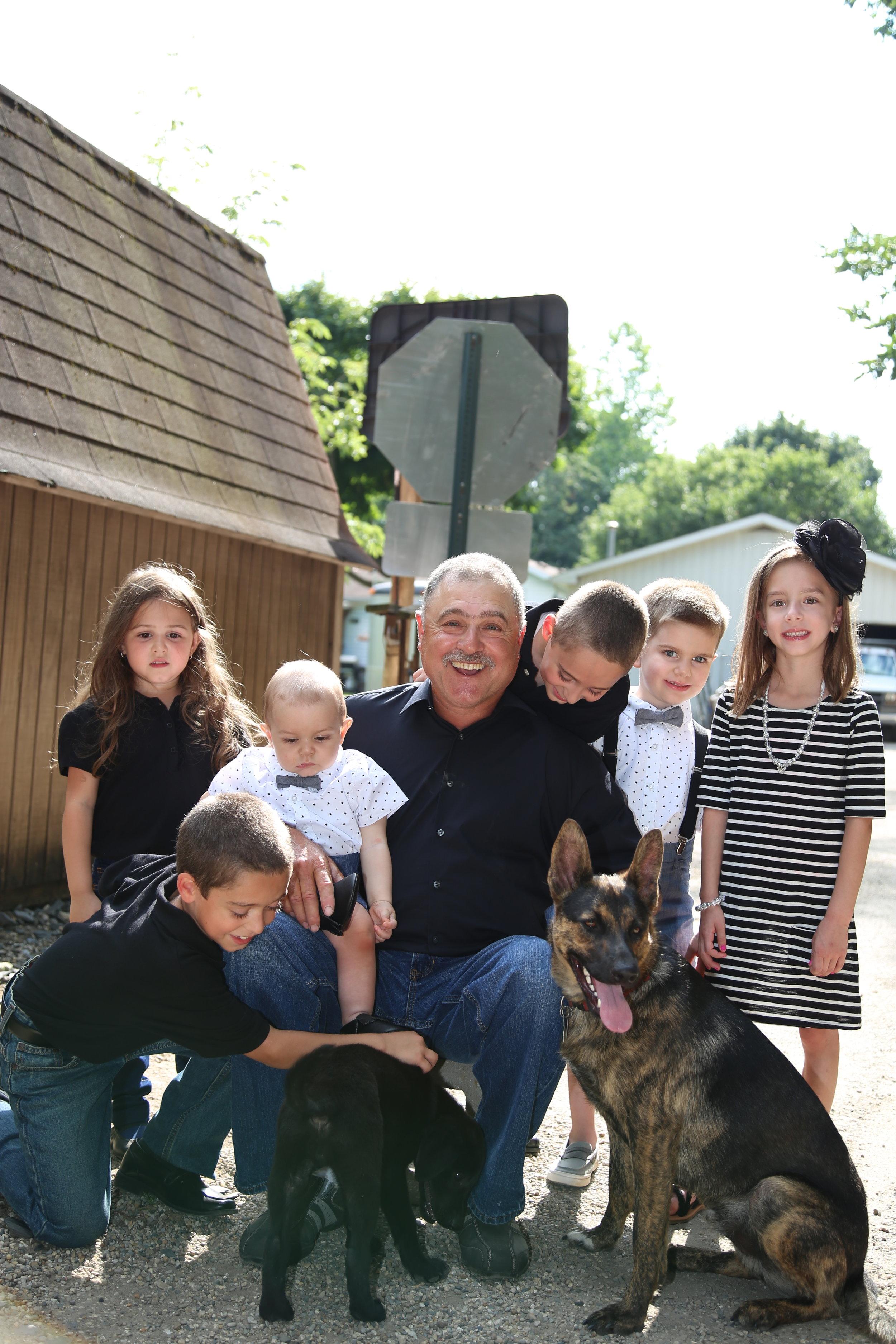 Grandpa with his Grandkids