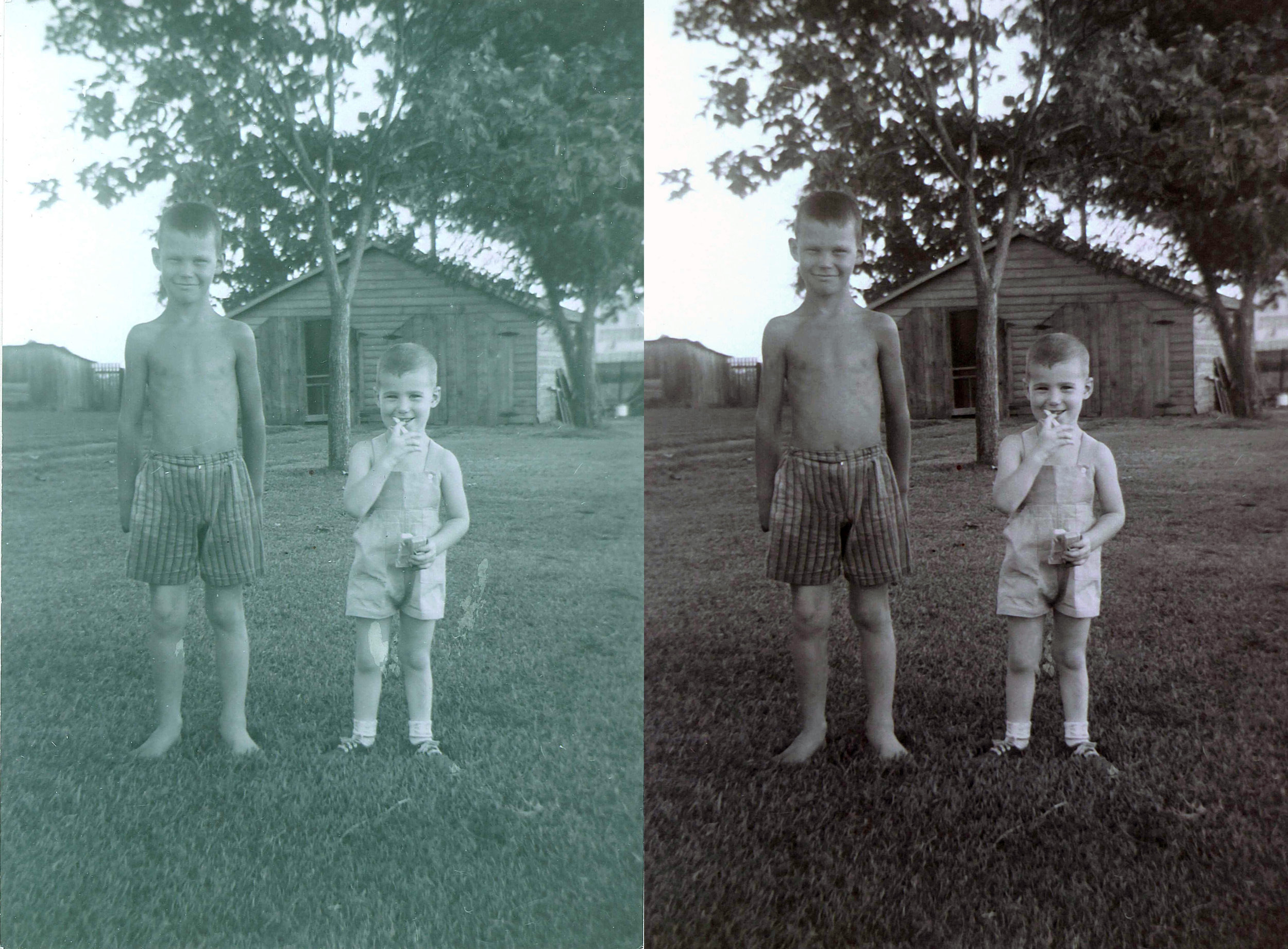 Seve and Brother - Before and after