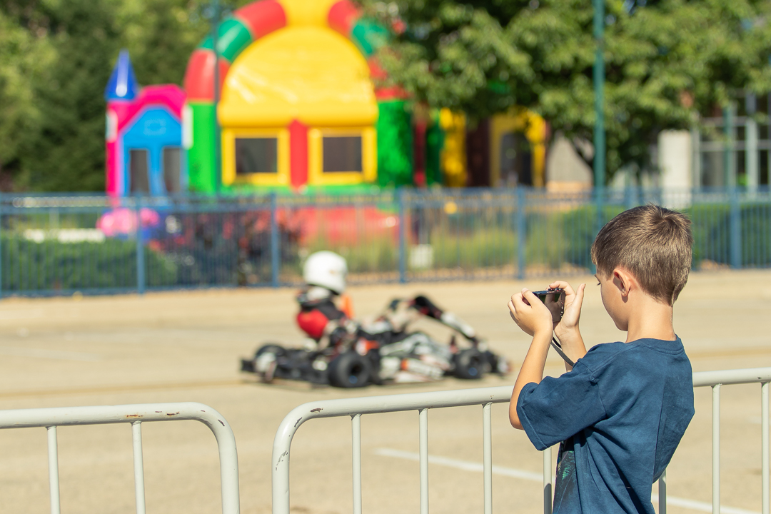 Dominic taking some photos at the 2019 Elkhart Grand Prix today