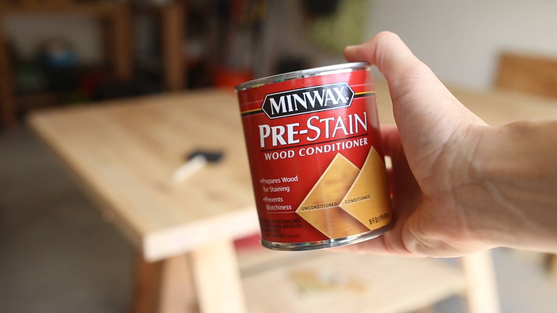 Before I stain wood, I use a wood conditioner. This helps to even out the color and create a much more even stain coat.