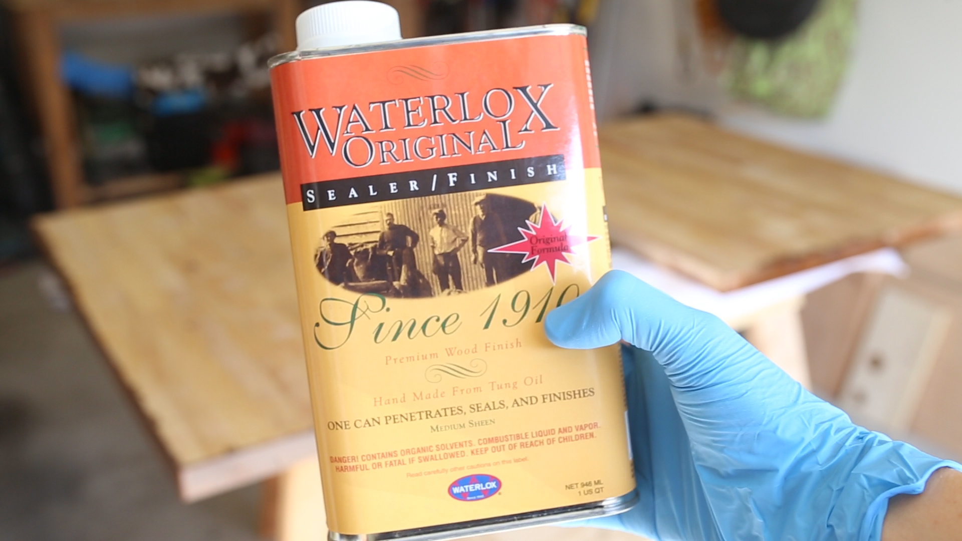 To protect these countertops (especially against water and moisture), I chose to seal them with several applications of Waterlox.