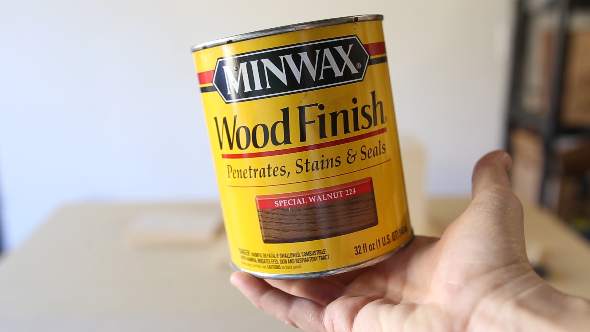 And then I applied a walnut stain