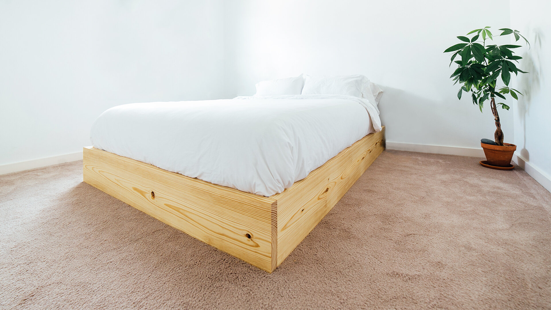 Picture of: How To Build An Easy Bed Platform Maker Gray