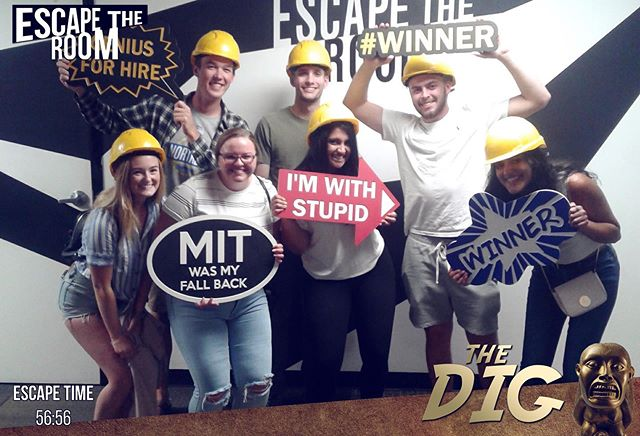 Getting ready for the school year doesn't have to be all bad! Our executive board took a break from preparing to do some bonding at an escape room! They escaped... barely...