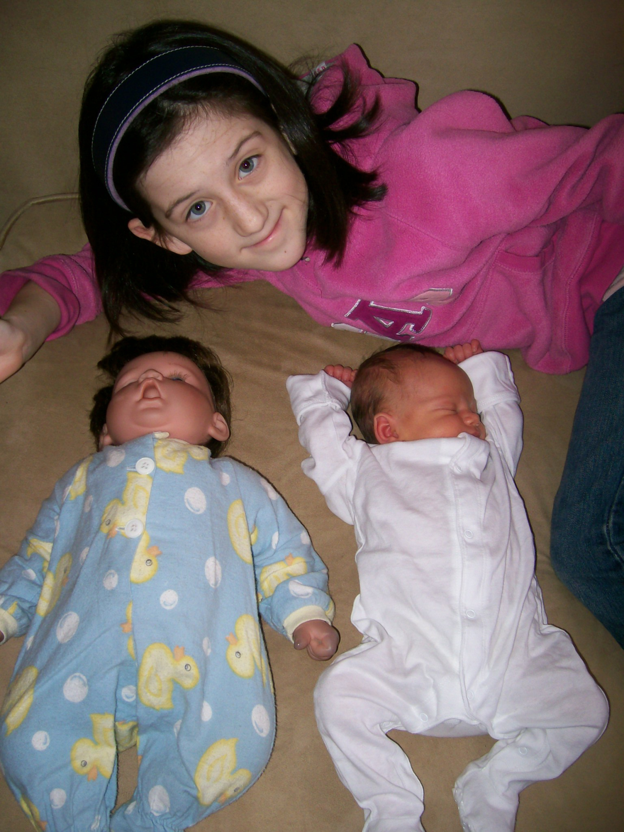 Charlotte and her babies, Charles and Beatrix.