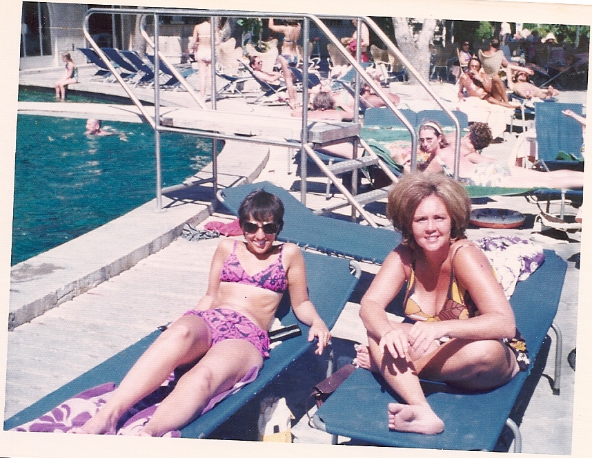 My Mother and Judy somewhere tropical.