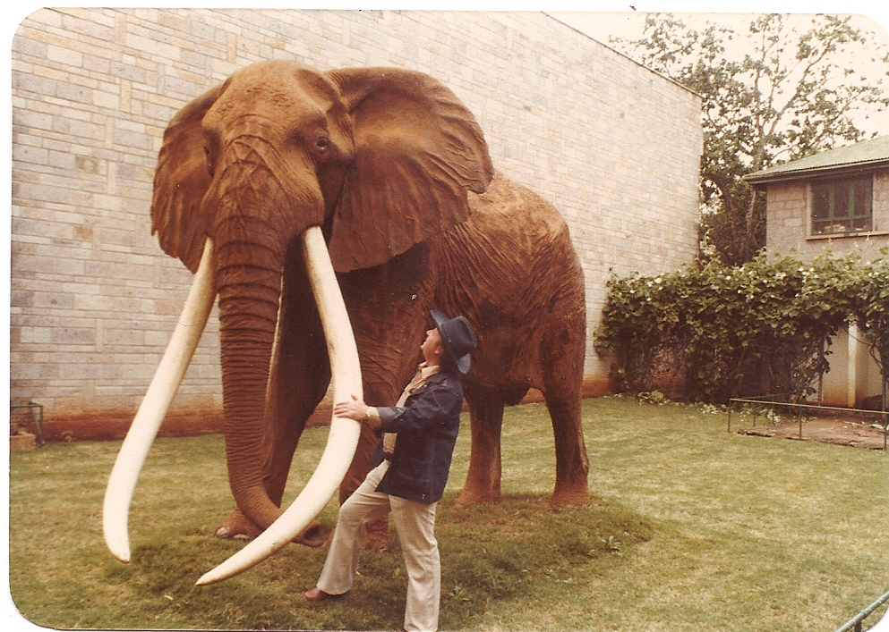 Dad in Africa in 1978