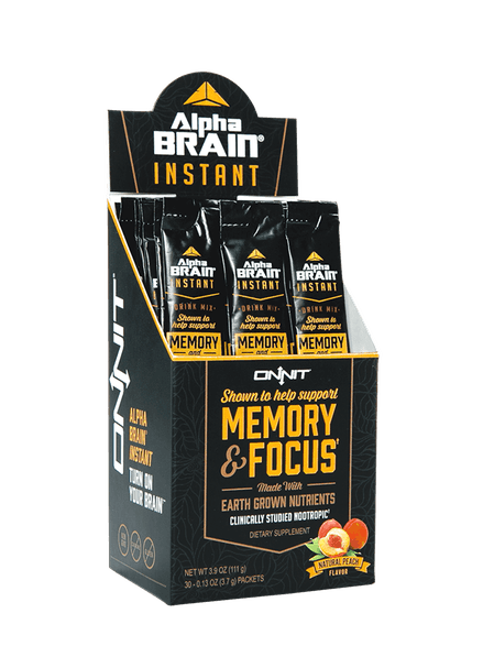 Alpha BRAIN Instant - Natural                    Peach (30ct box)