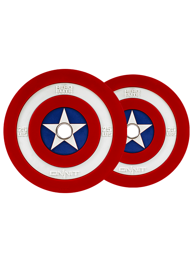 2x25lb Captain America Shield                     Barbell Plates