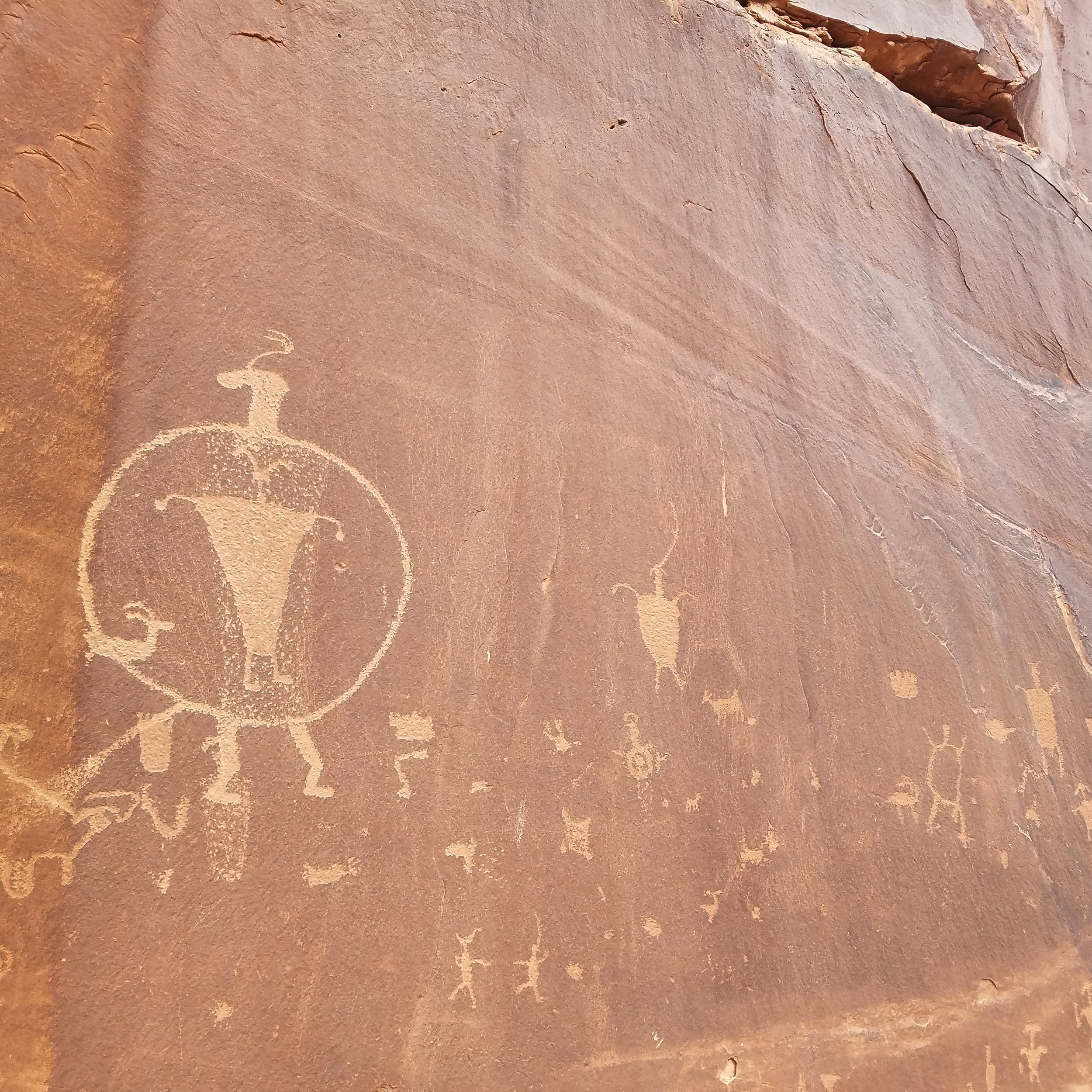 Petroglyphs in the behind the rocks wilderness study area. Moab-UT