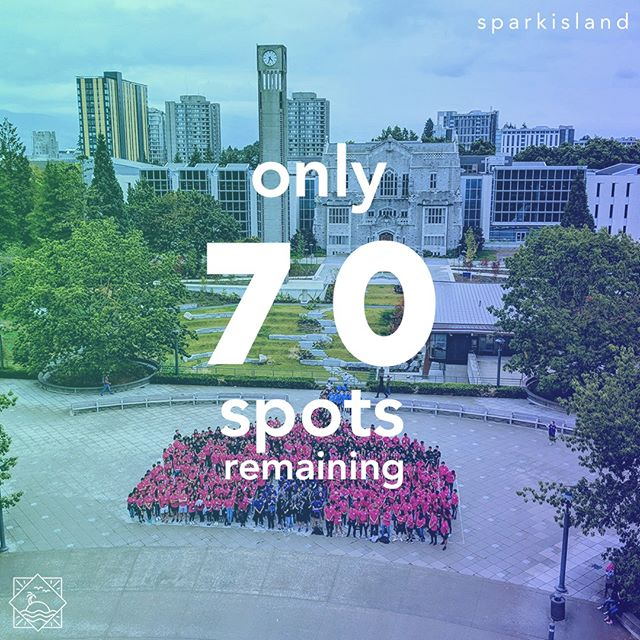 Still on the fence about coming to the Spark? Now's your chance to pull through to the biggest and bestest orientation around 😁😁! We've only got 70 spots remaining to join this year's Spark so fill out those forms ASAP!⁠ ⁠