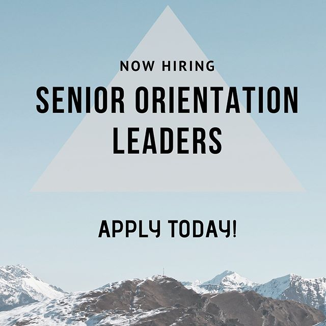 We are thrilled to announce that we are now hiring for Senior Orientation Leaders for The Spark 2020!! —— If you want to make an impact in the lives of over 600 new-to-Sauder students, build friendships with an amazing group of Orientation Leaders from all year levels, and bring your energy to one of Sauder's largest annual events then check out  the job description and application in our bio! —— Deadline to apply is Sunday October 27th at 11:59PM.