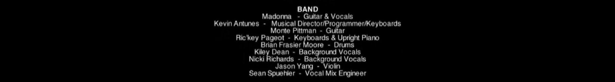 Madonna Jason Yang band