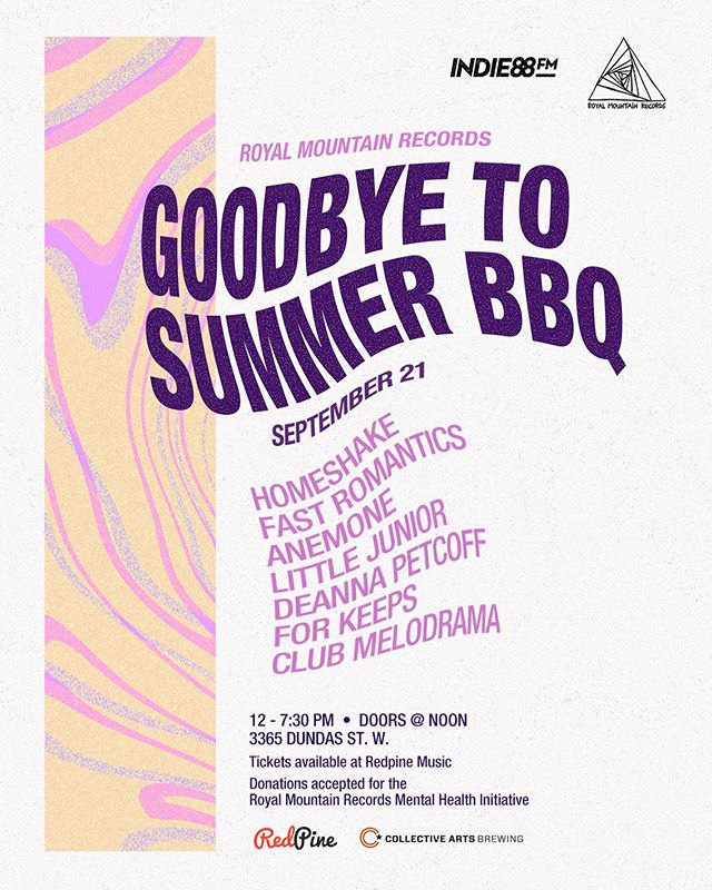 Summer is OVER but I don't mind cuz I get to play this show with some lovely homies! SEPT 21 @royalmountainrecords 🥰 #goodbyesummer #livemusic #torontomusic #canadianart