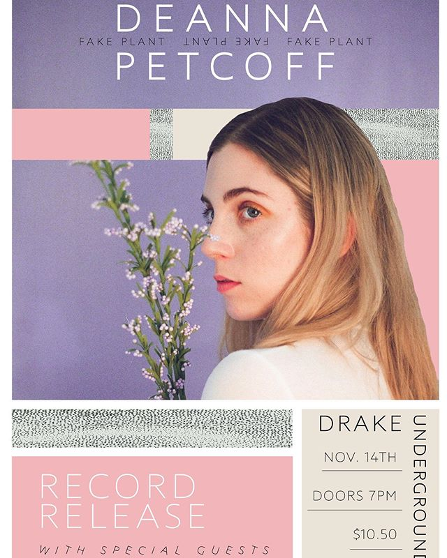 "ANNOUNCEMENT! We are releasing our debut EP ""Fake Plant"" this fall and throwing a show to celebrate it! November 14th @drakeunderground, special guests tba soon!! Book it off work kids, it's gonna be a fun one 🥰 #torontoshows #livemusic #womeninmusic poster by @kasimca"
