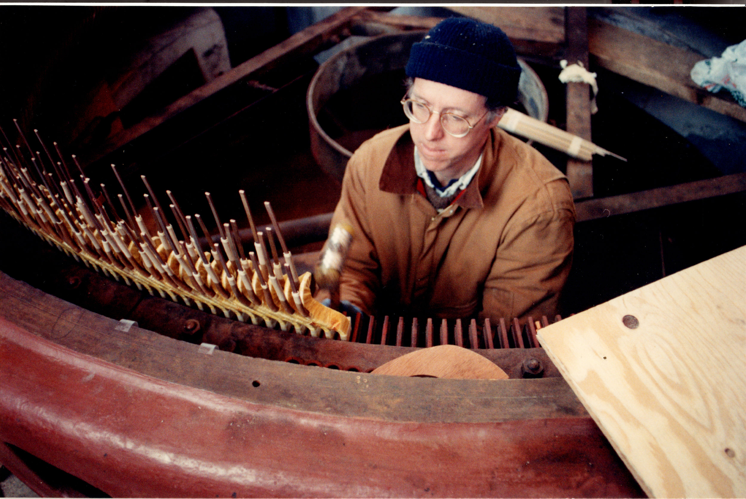 "Everett rewinding the ""big machine"" in 1993"