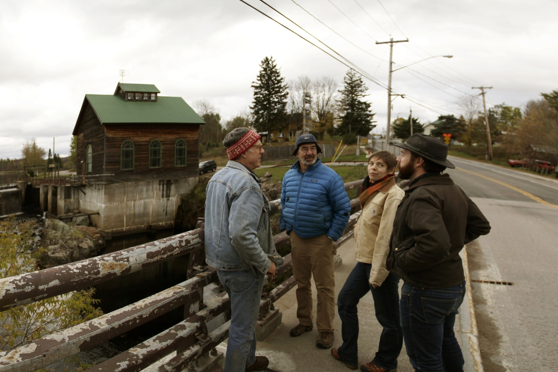 Everett, Matt, Louise, and Emmett at Azure Mountain Power in St Regis Falls