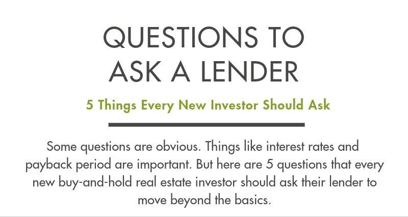 Lender Questions