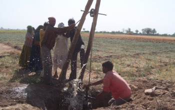 """Indian Farmers Store Water In The Fields - BHUNGROO WINS THE 2017 BUCKMINSTER FULLER CHALLENGEWednesday, 11 October 2017NEW YORK CITY (October 11, 2017) -The Buckminster Fuller Challenge is pleased to announce the winner of the 2017 Challenge: Bhungroo, a project of the Sustainable Green Initiative Forum (SGIF) in Gujarat State, India. The project was submitted by Trupti Jain and Biplab Ketan Paul, SGIF's co-founders.Bhungroo (meaning """"straw"""" or """"hollow pipe"""" in Gujarati) has developed a deceptively simple, """"low-tech"""" but highly innovative technology that can filter, inject, and store water from precipitation in the water table up to a depth of 300 meters in the subsoil. The project uses this novel technology to dramatic benefit for poor farmers in a multi-dimensional strategy that boosts crop yields and food security, raises rural incomes, improves soil fertility, combats the effects of climate change, and radically enhances the wellbeing and social status of women.The Fuller Challenge Review Committee found Bhungroo to be a perfect demonstration of one of Buckminster Fuller's favorite dictums:"""