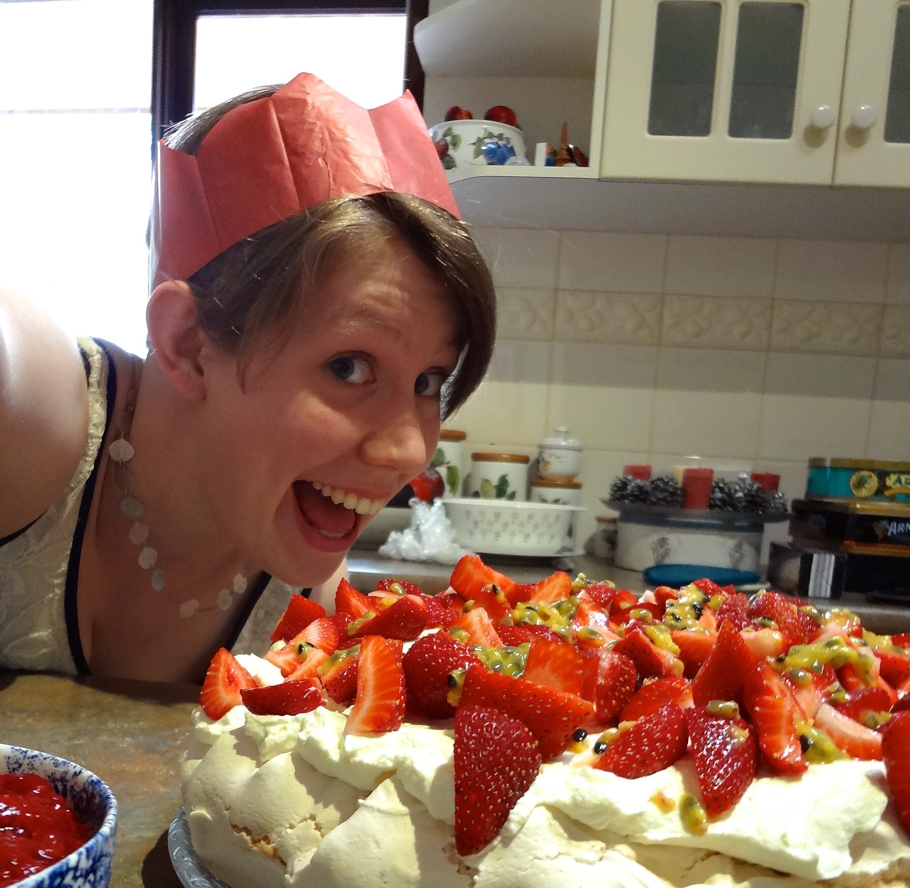 This is just a photo of me and a pavlova at Christmas. I'll work on getting some more topical images for future blog posts