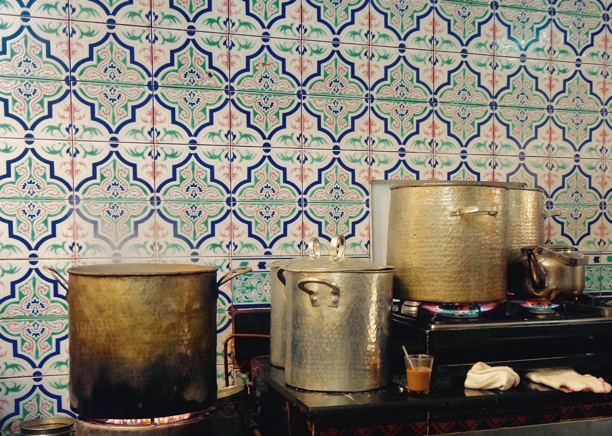 Inside a Tunisian coffee shop