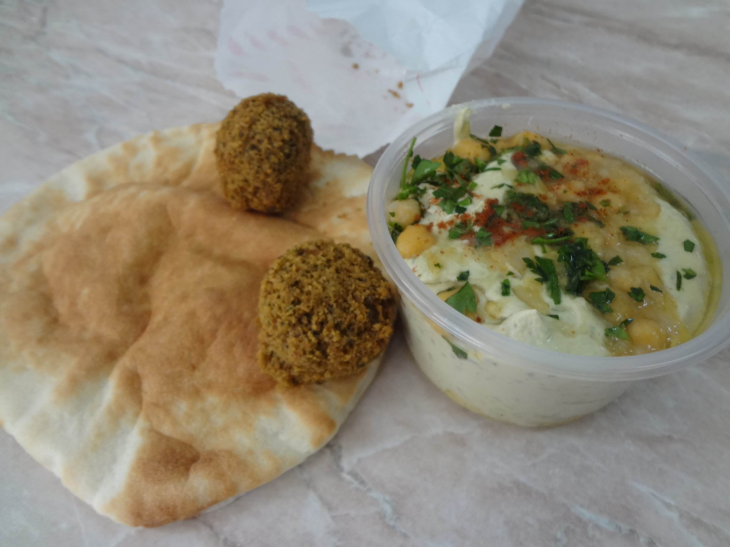 Plus falafel because if you have the opportunity to eat falafel, you should always take it