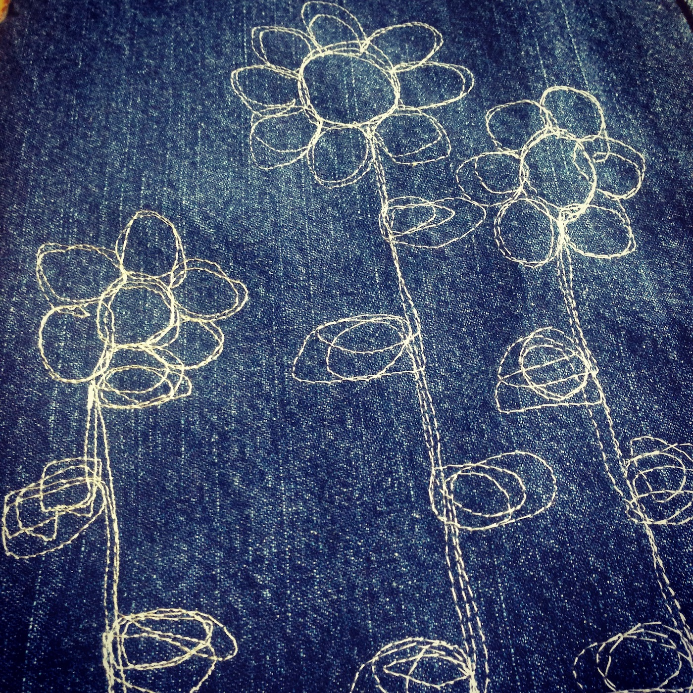 Doodling with a sewing machine.