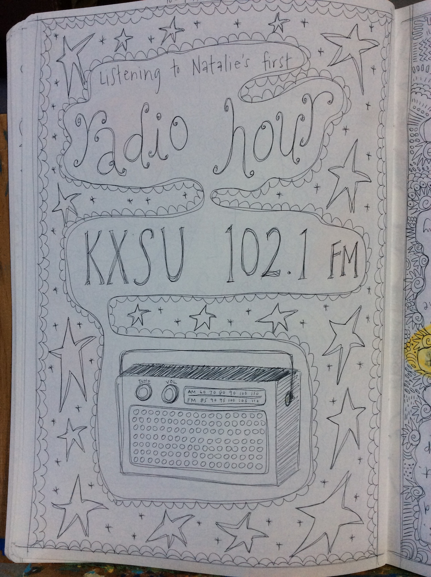 Nats on the radio.JPG