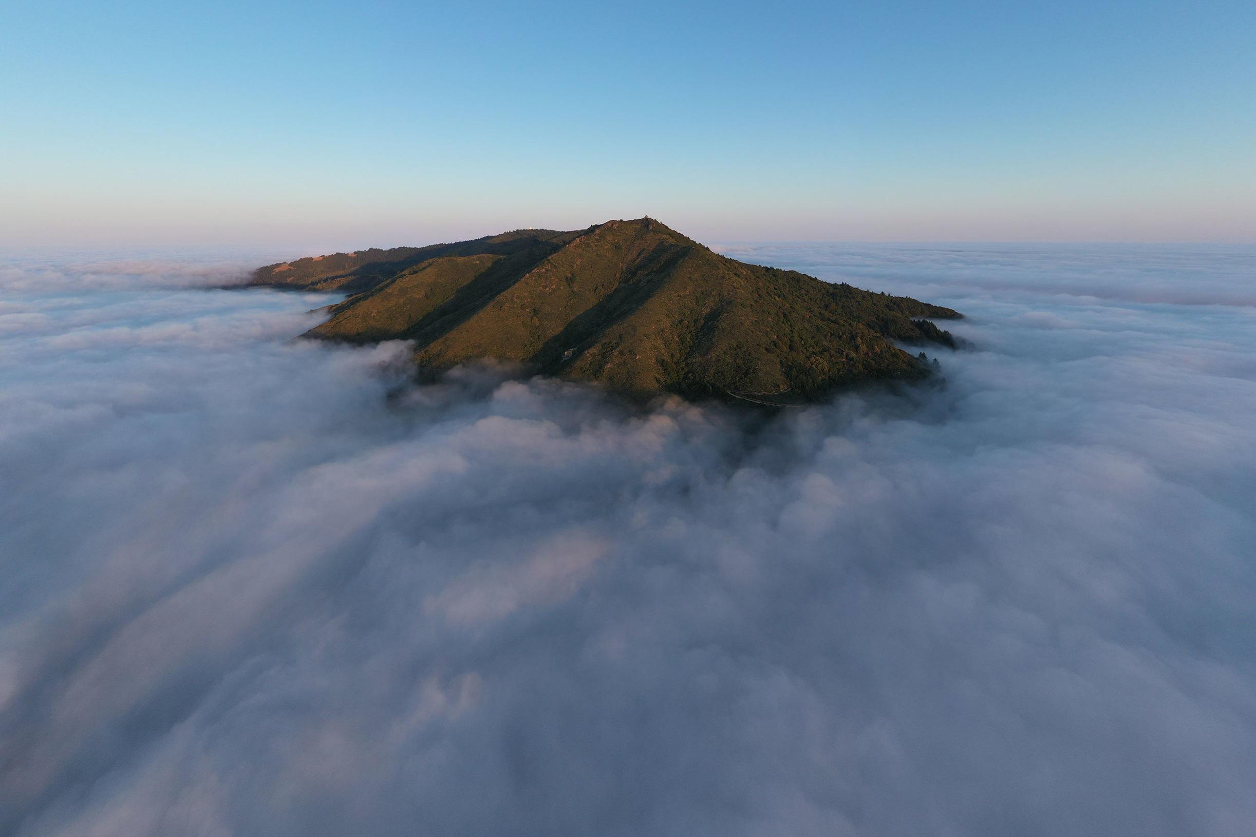 Aerial View, Mount. Tamalpais - CA